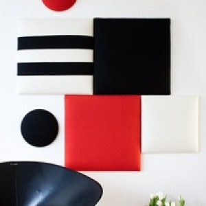 Wobedo Decorative Acoustic Panels in the Squarelbubble Line Wall Configuration