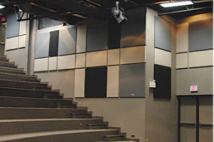 For spaces large or small, panels and baffles for ceiling or wall.  Complement your decorative panel feature with economical, cleanly tailored absorptive pieces, to fulfill your acoustic needs along with your design goals.