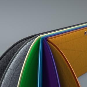 Flexible foldable desktop privacy screen in 6 colours