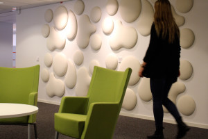 Decorative acoustic panels Woolbubble line from Wobedo