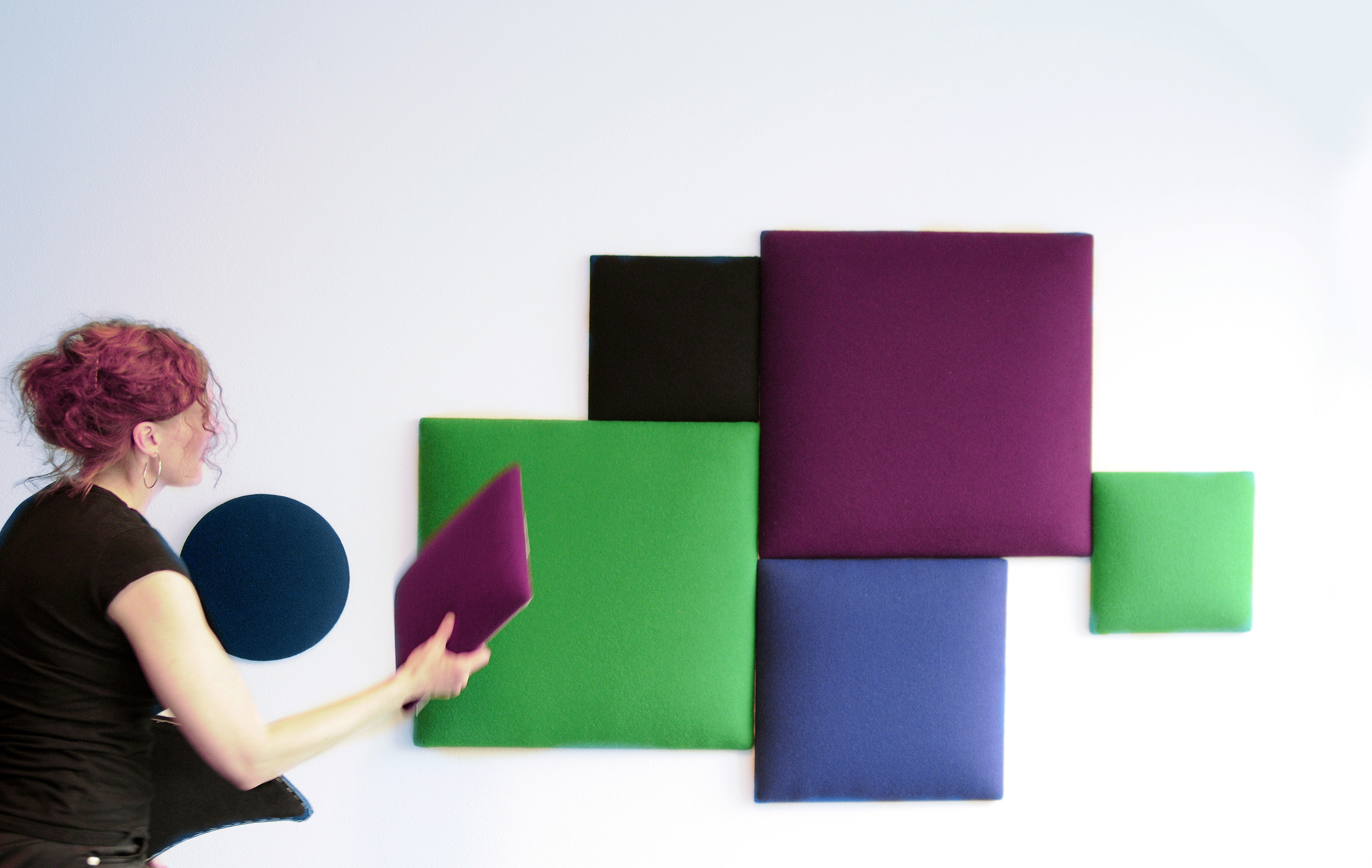 Interior designer and creator of Wobedo Design acoustic panels