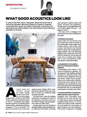 Magazine Design Feature Article What Good Acoustics Look Like
