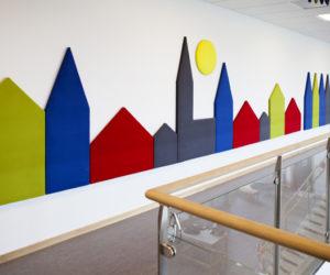 Acoustic panels Wobedo Town corridor 2