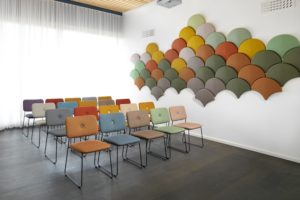 Gingko shell-shaped acoustic panels