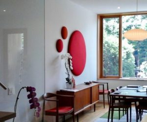 Acoustic panels in a modern design home